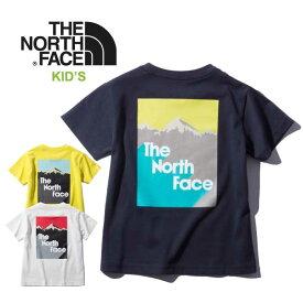 ノースフェイス キッズ Tシャツ THE NORTH FACE [ NTJ32063 ] S/S SNOW Mountain Tee 半袖 子供[メール便][0615]