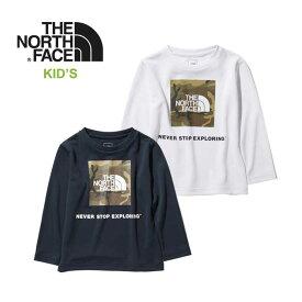 ノースフェイス キッズ ロンT THE NORTH FACE [ NTJ12020 ] L/S B FRE CAMO TEE 長袖 Tシャツ 子供 [メール便][0421]【P10】