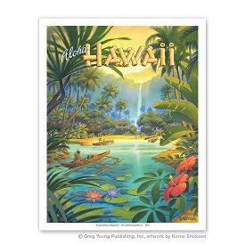 【ハワイアン アートプリント】ビーチ・海・山・植物・景色・風景Aloha Hawaii(アロハ ハワイ)(Kerne Erickson)ハワイアン インテリア・アート・絵画・アーティスト