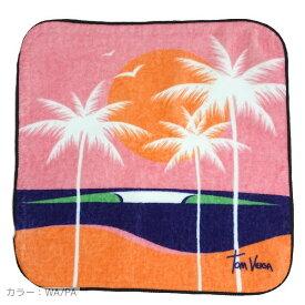 【ハンドタオル】Tom Veiga(トム ヴェイガ) ハンドタオル ハンカチ ギフト ビーチ 海 サーフィン 波 旅行 ハワイ ブラジル 西海岸 雑貨 小物 アート 絵 (WA/PA) レディース メンズ