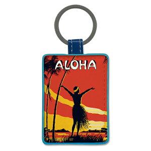 【ハワイアン キーチェーン】ハワイアン レザーレット キーホルダー<ALOHA OE(アロハオエ)>キーホルダー・キーチェーン・キーリングハワイ雑貨 お土産 フラ hula フラガール