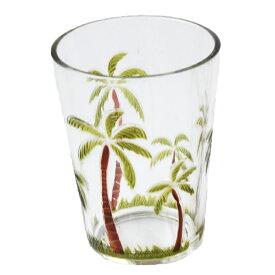 【ヤシの木 タンブラー】タンブラー・プラスチックコップ・グラス・割れない<Sサイズ>ハワイアンキッチン雑貨・食器