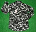 アロハシャツ AVANTISILK(アヴァンティシルク) AVC002L 長袖 メンズ ブラック(黒) 海 波 チューブ ハワイアン 南国 プレゼント 上品 コットン100% 表地仕様 ボタンダウン(オープンカラー) 送料無料商品