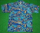 アロハシャツ|AVANTI SILK(アヴァンティ シルク)|A1172BLU|半袖|メンズ|ブルー(青)|ハワイアン|リゾート|…