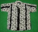 アロハシャツ|AVANTI SILK(アヴァンティ シルク)|A1174BK|半袖|メンズ|ブラック(黒)|オフホワイト(アイボリ…