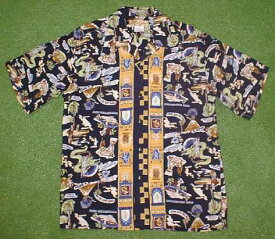 半袖アロハシャツ LALAKAI(ララカイ) HU002N ネイビーブルー(紺・青) メンズ ハワイアン柄 レーヨン00% 開襟(オープンカラー) 1万円以上で送料無料
