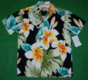 アロハシャツ PARADISE FOUND(パラダイスファウンド) PF181 半袖 メンズ ブラック(黒) 新品 USサイズ おしゃれ 人…