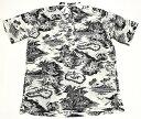 【メンズアロハシャツ】半袖/大きいサイズ/REYN SPOONER(レインスプーナー)/RS565/白(しろ)/プナ/フラワー/やしの木…