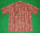 アロハシャツ|TORI RICHARD(トリリチャード)|TOR019|半袖|メンズ|レッド(エンジ色)|ロープ柄(マリンレジャ…
