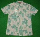 アロハシャツ|TORI RICHARD(トリリチャード)|TOR042|半袖|メンズ|ライトピンク|ヤシの木柄|パームツリー|植…