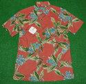 アロハシャツ TORIRICHARD(トリリチャード) TOR054 半袖 メンズ サーモンピンク ハワイ リゾート 花・フラワー柄(プルメリア) コットンローン100%(縮緬・サッカー地) 普通襟(ノーマルカラー) 送料無料商品
