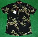 アロハシャツ TORIRICHARD(トリリチャード) TOR062 半袖 メンズ ブラック(黒) 和柄 松 PINETREE ハワイアン コットン97%スパンデックス3% 普通襟(ノーマルカラー) 送料無料商品