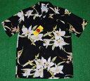 アロハシャツ TWO PALMS(ツーパームス) TWO038 半袖 メンズ ブラック(黒) 新品 USサイズ プレゼント 花・フラワー…