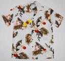 アロハシャツ|TWO PALMS(ツーパームス)|TWO050|半袖|メンズ|ホワイト(白)|花柄|フラワー|USサイズ|プレ…