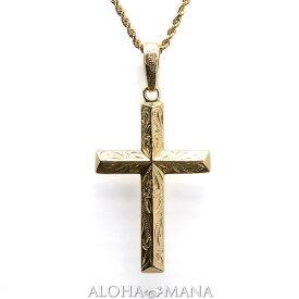 ゴールドネックレス ハワイアンジュエリー ネックレス k14 14金 ネックレス チェーン ゴールド ペンダントトップ k14ゴールド クラシカル トリゴナルクロス ペンダント 付属チェーンなし apd1525 プレゼント ギフト gold necklace