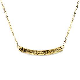 k18ネックレス ゴールドネックレス ハワイアンジュエリー 18k 18金 ネックレス ゴールド アクセサリー レディース 女性 K18 シャイニーウェーヴ バー 華奢 シンプル ane1365/