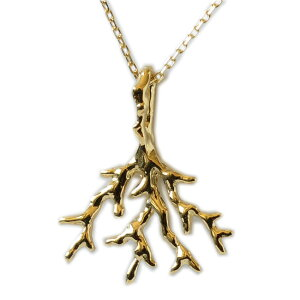ゴールドネックレス k18ネックレス ネックレス ハワイアンジュエリー アクセサリー レディース 女性 K18 k18 18金 ゴールド コーラルモチーフ・ペンダント イエローゴールド 華奢 シンプル 珊