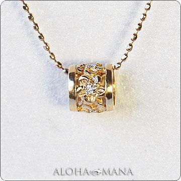 ネックレス ハワイアンジュエリーレディース 女性 ダイヤモンド プチ バレル ゴールド ペンダント トップ K14/K18/プラチナ900 (付属チェーンなし) apdo6498 ホワイトデー プレゼント ギフト