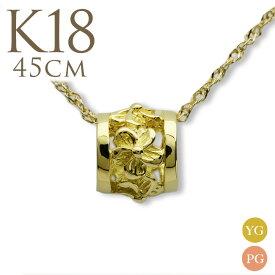 ゴールドネックレス 18k ネックレス 18金 k18ネックレス チェーン ゴールド ペンダントトップ k18 レディース 女性 ハワイアンジュエリープチ バレル チェーン付きセット 華奢 シンプル apdo6491ch18ae プレゼント ギフト gold necklace
