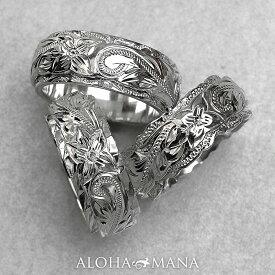 ハワイアンジュエリー リング 指輪 レディース 女性 メンズ 男性 ペアリングにオススメ グラマラス・デュアルトーン オーダーメイド オリジナル 個性で選ぶ 3種のカットエッジ シルバーリング シルバー 925 ari007sv プレゼント ギフト