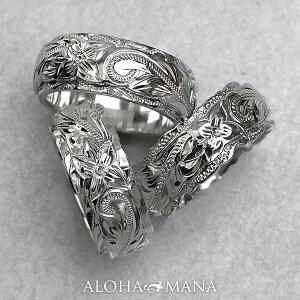 ハワイアンジュエリー リング 指輪 レディース 女性 メンズ 男性 ペアリングにオススメ グラマラス・デュアルトーン オーダーメイド オリジナル 個性で選ぶ 3種のカットエッジ シルバーリ