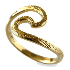 リング 指輪 ハワイアンジュエリー レディース 女性 K18 18k ゴールド 18金 イエローゴールド Nalu ウェーブ 波 リング ari1297/新作 プレゼント ギフト