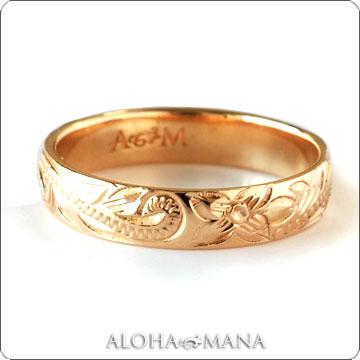 リング ハワイアンジュエリー 結婚指輪レディース 女性 メンズ 男性 ペアリングにオススメ ゴールドリング イエローゴールド K10/K14/K18ゴールド(10金/14金/18金) arig0043 プレゼント ギフト
