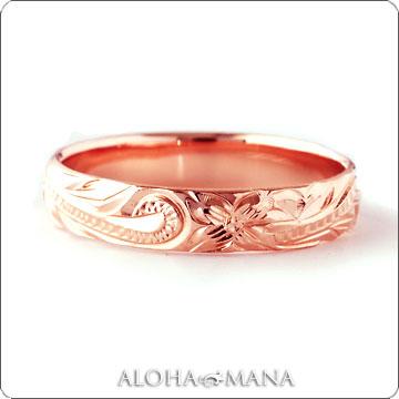 リング ハワイアンジュエリー 結婚指輪 レディース 女性 メンズ 男性 ペアリングにオススメ ゴールドリング ピンクゴールド K10/K14/K18 arig0043pg ホワイトデー プレゼント ギフト