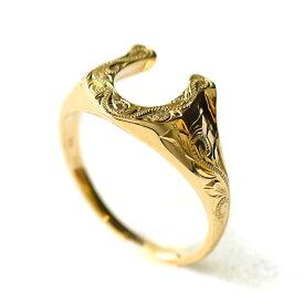 リング 指輪 ハワイアンジュエリー レディース 女性 ホースシュー 馬蹄 蹄 スクロール ゴールドリング K10 ゴールド 10金 イエロー ピンク ホワイト ari1370/新作