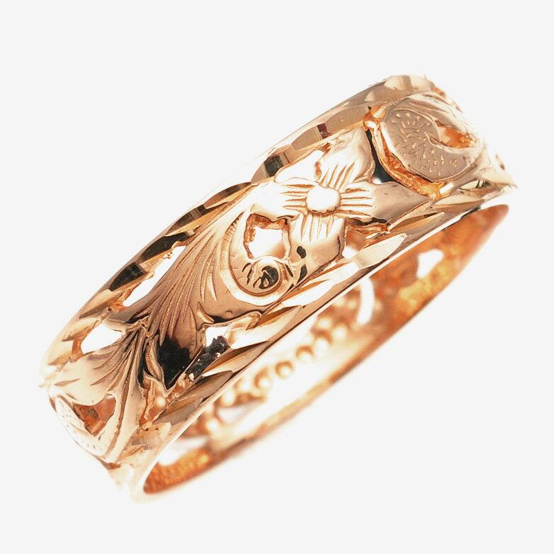 リング 指輪 ハワイアンジュエリー アクセサリー レディース 女性 メンズ 男性 K14ゴールド ピンクゴールド リング 指輪Princess 透かし柄 ambrig09crpg クリスマス プレゼント