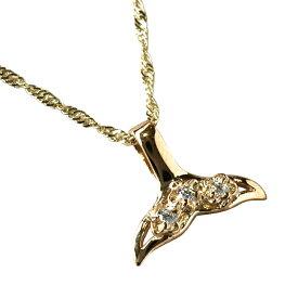 ゴールドネックレス ネックレス ハワイアンジュエリー アクセサリー レディース 女性 プルメリアホエールテールCz・K14ゴールドペンダント トップ (付属チェーンなし) cpdgp413 gold necklace
