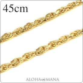 ゴールドネックレス ネックレス ハワイアンジュエリー ネックレス (Weliana)ネックレス カットロープチェーン幅1.5mm(長さ45cm)K14イエローゴールド dch151034wch プレゼント ギフト gold necklace
