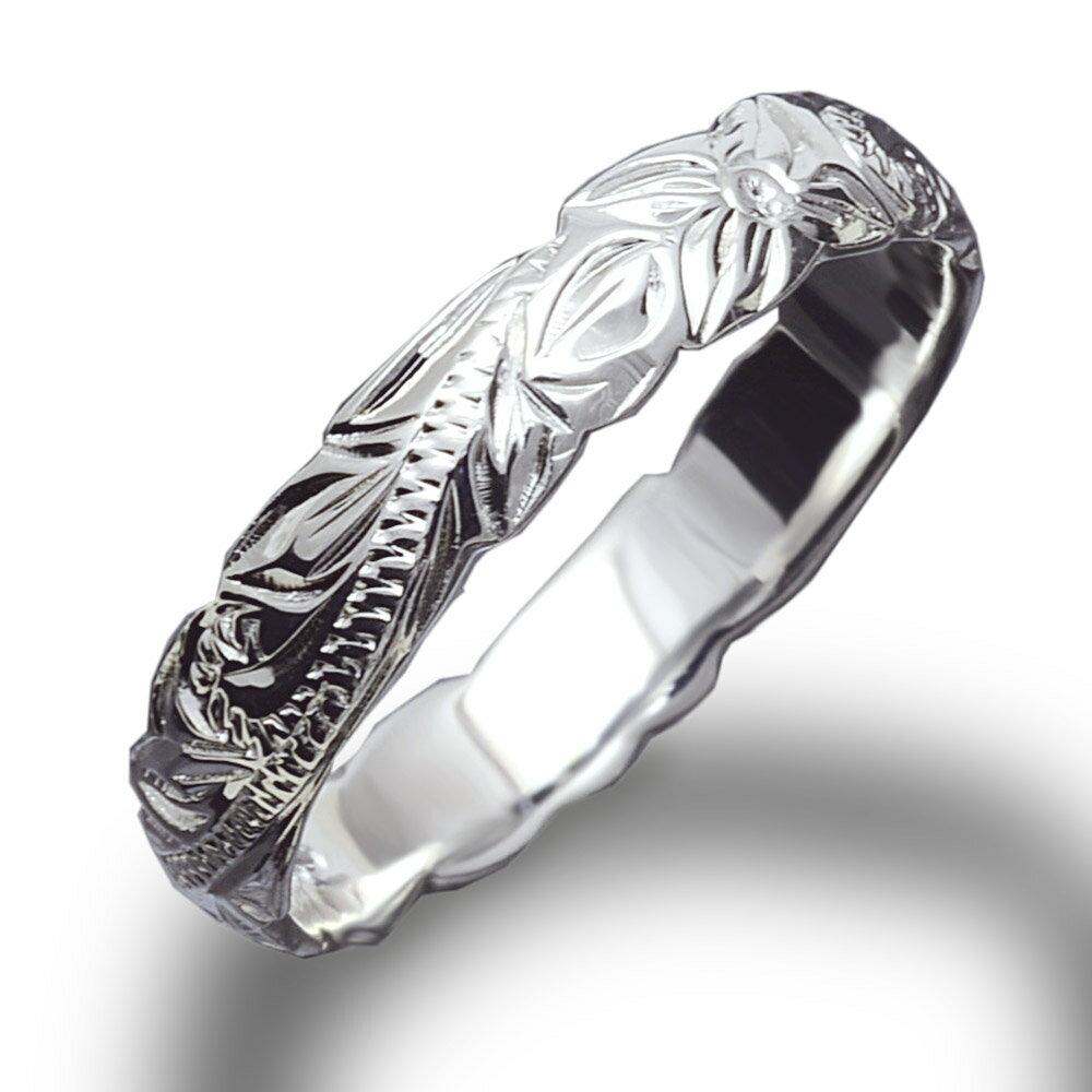 リング 指輪 ハワイアンジュエリー レディース 女性 メンズ 男性 ペアリングにオススメ 大切な人の幸せ願うお守りの波模様スクロールデザイン カットアウトシルバー 925リング fri1461sv