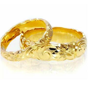 (Weliana)ONLYONE マリッジリング 結婚指輪 ハワイアンジュエリー リング レディース 女性 メンズ 男性 ペアリング ゴールドリング バレル カットアウト ペア セット(幅4mm・6mm・8mm)cdr022ctpair オーダーメイド ハンドメイド バレンタイン プレゼント ギフト