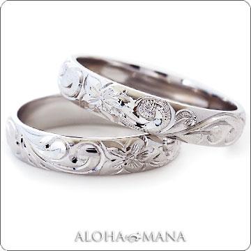 (Weliana)ONLYONE マリッジリング 結婚指輪 ハワイアンジュエリー リング レディース 女性 メンズ 男性 ペアリング バレル ゴールドリング カレイキニ ペア セット(幅4mm・6mm・8mm)cdr022kalepair オーダーメイド ハンドメイド バレンタイン プレゼント ギフト