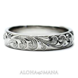 ハワイアンジュエリー リング (Weliana)ONLYONE マリッジリング 結婚指輪 プラチナバレル リング・ノーエッジまたはカットアウトエッジで(幅4mm・6mm)