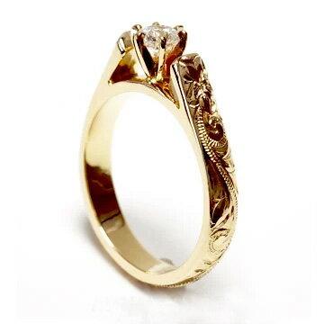 (Weliana)ONLYONE ハワイアンジュエリー リング レディース 女性 フレンチマウント ウェディング ダイヤモンド リング (幅3.5mm) lgr004a プレゼント ギフト