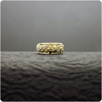 マリッジリング 結婚指輪 ハワイアンジュエリー リング レディース 女性 メンズ 男性 (Weliana)ONLYONE ゴールドリング カレイキニ K14/K18/pt900 二重構造デュアルトーン オーダーメイド ハンドメイド バレンタイン プレゼント ギフト