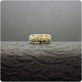 アニバーサリーリング マリッジリング 結婚指輪 ハワイアンジュエリー リング レディース 女性 メンズ 男性 (Weliana)ONLYONE ゴールドリング カレイキニ K14/K18/pt900 二重構造デュアルトーン オーダーメイド ハンドメイド プレゼント ギフト