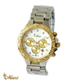 ハワイアンジュエリー 腕時計 レディース 女性 メンズ 男性 アクセサリー [Maxi]マキシ クロノグラフ ユニセックス ステンレス ウォッチ mwz1320/ プレゼント ギフト