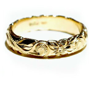 ハワイアンジュエリー リング 指輪 レディース 女性 メンズ 男性 [Maxi]マキシ オールドイングリッシュ・カットアウトリング K14イエローゴールド mxri0133yg プレゼント ギフト