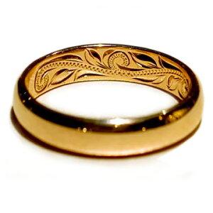 ハワイアンジュエリー リング 指輪 レディース 女性 メンズ 男性 [Maxi]マキシ ネオトラディッショナルノーエッジマリッジリング 4mm・K14ゴールド mxri0583 プレゼント ギフト