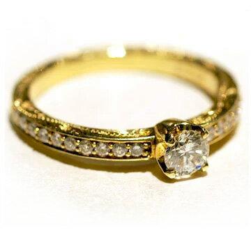 指輪リング ハワイアンジュエリー レディース 女性 [Maxi]マキシ クラシカルトラディッショナル エンゲージメントリング ダイヤ0.25ct・K18ゴールド mxrier6 クリスマス プレゼント