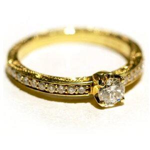 指輪 ハワイアンジュエリー リング レディース 女性 [Maxi]マキシ クラシカルトラディッショナル エンゲージメントリング ダイヤ0.25ct・K18ゴールド mxrier6 プレゼント ギフト