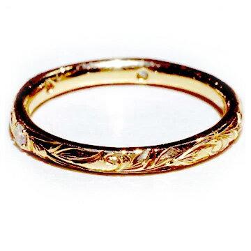 指輪リング ハワイアンジュエリー レディース 女性 メンズ 男性 [Maxi]マキシ プリンセスマリッジリング ダイヤ0.03ct・K18ゴールド mxrimr11a バレンタイン プレゼント ギフト