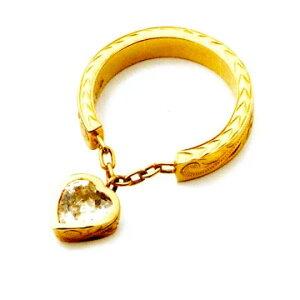 ハワイアンジュエリー リング 指輪 レディース 女性 [Maxi]マキシ リング・スウィンギングクオーツハート K14イエローゴールド mxri0109yg プレゼント ギフト