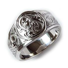 指輪 ハワイアンジュエリー リング メンズ 男性 リング [Maxi]マキシ ラウンドTapperリング ブラックゴールドポリッシュシルバー 925 mxri0131bp プレゼント ギフト