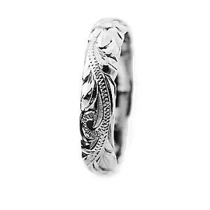 指輪リング ハワイアンジュエリー レディース 女性 メンズ 男性 [Maxi]マキシ オールドイングリッシュ・カットアウトリング K14ホワイトゴールド mxri0133wg プレゼント ギフト