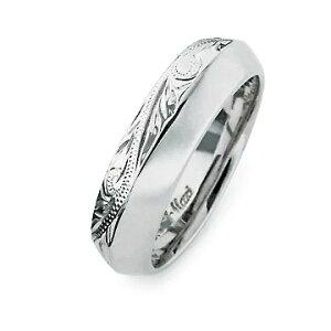 指輪リング ハワイアンジュエリー レディース 女性 メンズ 男性 [Maxi]マキシ アングルリング6mm K14ホワイトゴールド mxri0427wg プレゼント ギフト