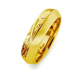 ハワイアンジュエリー リング 指輪 レディース 女性 メンズ 男性 [Maxi]マキシ アングルリング6mm K14イエローゴールド mxri0427yg プレゼント ギフト